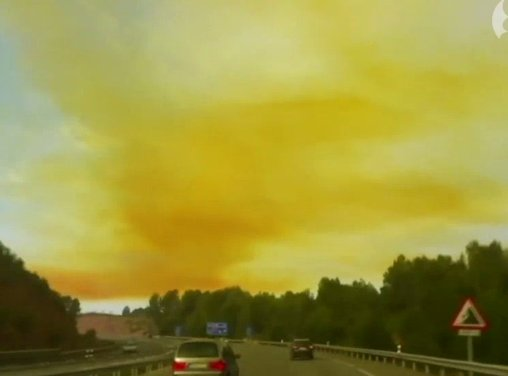 Toxic Cloud In Spain Caused By Rocket Fuel