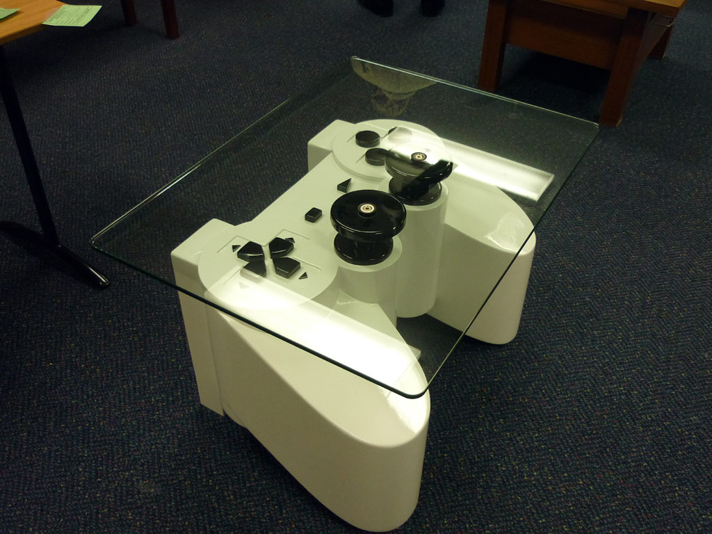 Controller Coffee Table.A Coffee Table For Generation Y Made Of A Playstation Controller