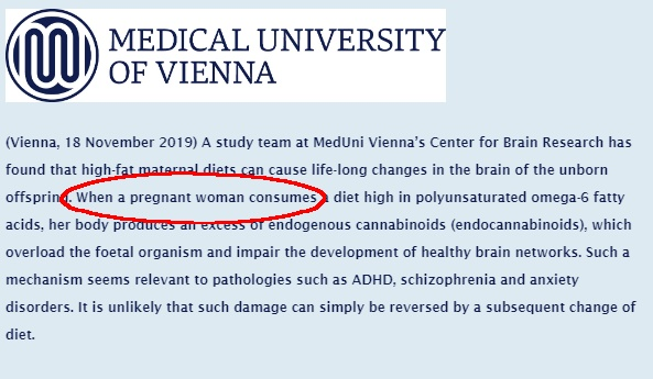 Mouse Study Claims Mediterranean Diet Causes Endogenous Cannabinoid Changes Which They Link To ADHD In Human Offspring