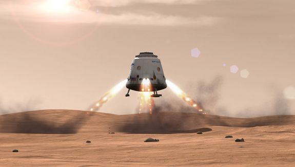 Sample return with SpaceX's Red Dragon