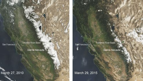 California Drought: Sierra Nevada Snowpack At 500-Year Low
