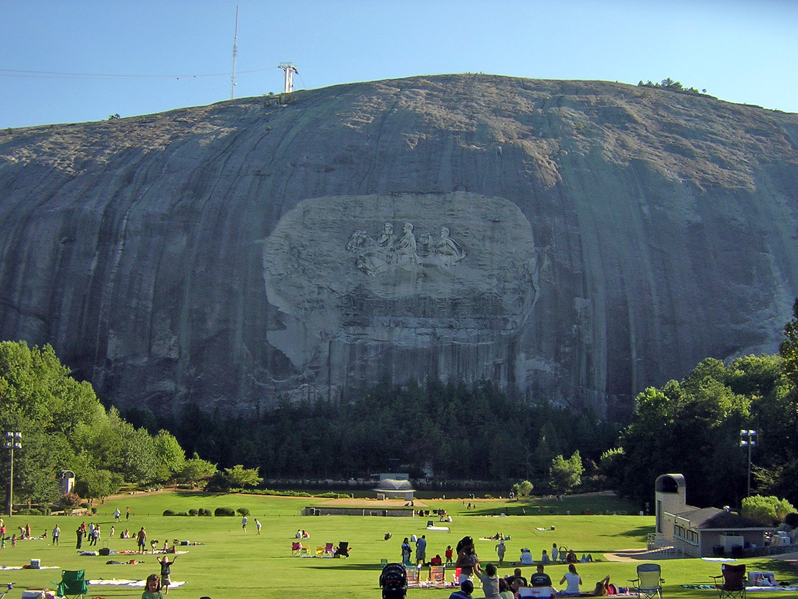 BLAST Stone Mountain.  If we don't in 10,000 AD those carvings will be our