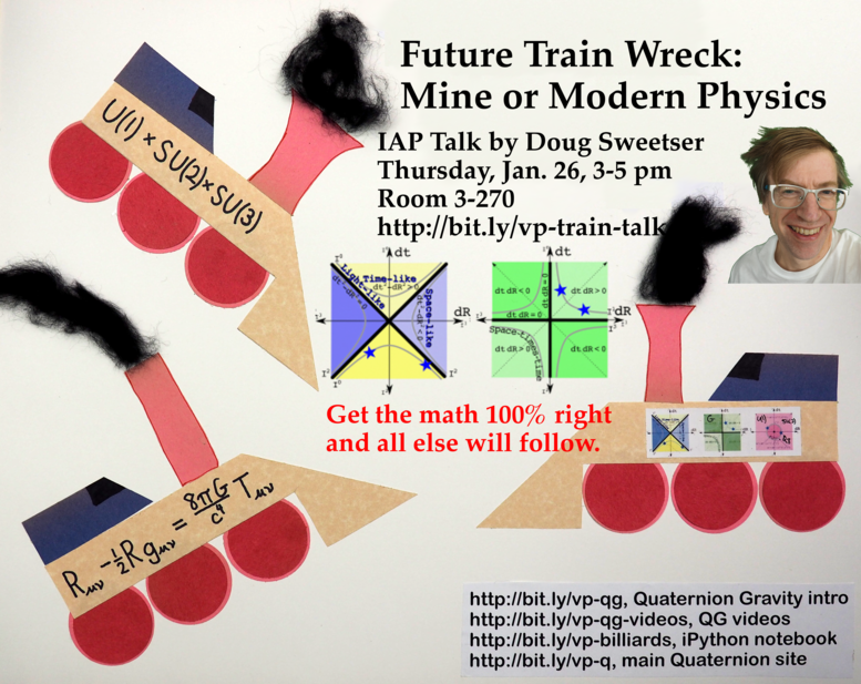 Future Train Wreck: Mine or Modern Physics talk Next Thursday, Jan. 26