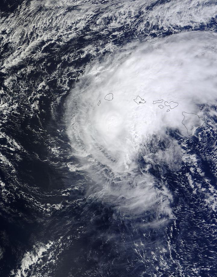 Tropical Storm Ana Over Hawaii