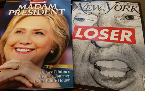 Hank Campbell Newsweek and New York magazines Clinton and Trump