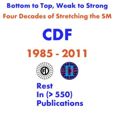 CDF: Four Decades Of Stretching The SM