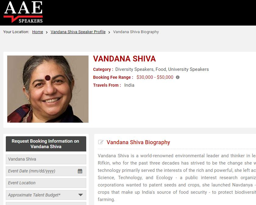 Stanford SS Is Hosting Vandana Shiva Today - And The Science Community Should Be Angry