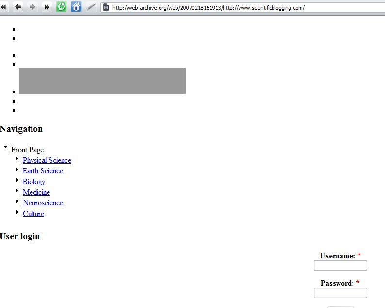 The Scientific Blogging Wayback Machine - How We Looked Then