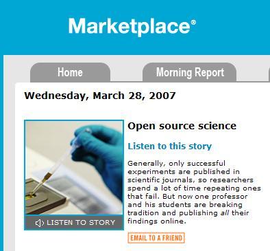 NPR Interview On Open Science