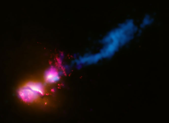 Real Life 'Death Star' 3C321 Fires At Neighboring Galaxy