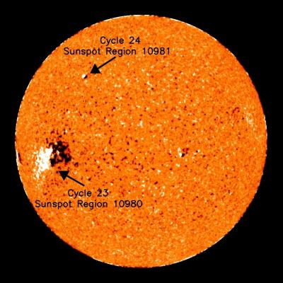 First Sunspot Of New 11-Year Solar Cycle Makes Itself Known