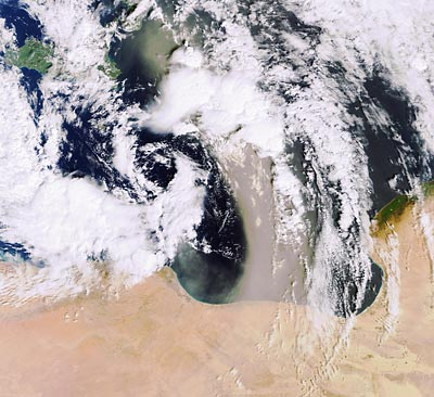 Earth From Space: Sandstorm Over The Mediterranean
