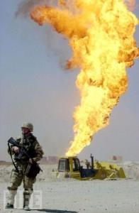 Saddam giving the Fiery Finger